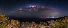 Kings Tableland & The Milky Way. (nikabuz) Tags: australia bluemountainsnationalpark kingstableland nsw wentworthfalls astrophotography lightpainting milkyway nightphotography stars