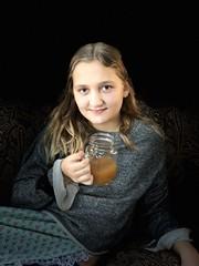 Catherine Rose (sadrollieman) Tags: girl pretty youth gran daughter mug cider thanksgiving iphone 8 photo portrait li ny suffolk iphoto osx usa