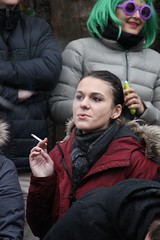 exhale (if you insist) Tags: smoking smoker addict nicotine candid cigarette exhale female eurosmoke