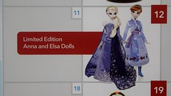Disney Store December Release Calendar - Closeup of LE Anna and Elsa Dolls Release on December 12 (drj1828) Tags: us disneystore calendar flyer release olafsfrozenadventure limitededition anna elsa doll 17inch