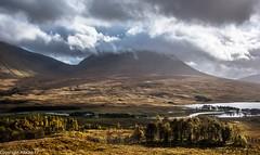 Loch Tulla view. (AlbOst) Tags: lochtulla rannochmoor bridgeoforchy mountains scottishhighlands scottishmountains autumncolours autumn achallader beinnachaladair