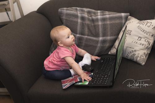 Pheobe Surfing the Net