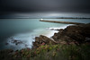 Cloudy seascape... (Grégory Dolivet) Tags: cloudy sea ocean lighthouse wildcoast water wave wind bretagne france labaulephoto