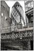 Gherkin Sandwich (tatzlum.photo) Tags: 50mm contrast blackandwhite construction gherkin guide architecture city monochrome urban buildings london