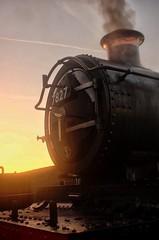 Manor Sunrise (Better Living Through Chemistry37) Tags: 7827 lydhammanor sunrise steam steamlocomotives uksteam ukrailways transport transportation gwr dartmouthrailway queenspark