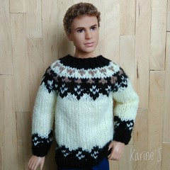 Sweater for men. (Karine'S HCF (Handmade Clothing & Furniture)) Tags: ken barbie jersey handmade amano lana greca porencargo sweater