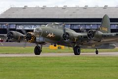 Boeing B-17G Flying Fortress (299P) (Vortex Aviation Photography) Tags: outdoor aviation aircraft airplane warbird prop ukairshow airshow farnboroughairshow2016 hampshire boeing b17g flying fortress gbedf bomber sallyb