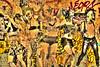 street art (albyn.davis) Tags: streetart mural color yellow gold glow light paris france europe