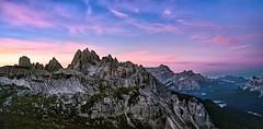 Sunrose (ELtano86) Tags: dolomite dolomiti dolomites dolomiten sunrise sunset eltano86 mountains mountain montagna trekking trecime lavaredo trentino alto adige italy nikon d800 landscapes landscape paesaggio paesaggi pano panorama