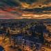 Podgorica (szugic) Tags: podgorica montenegro crnagora city cityscape lights citylights night sunset stacking clouds bluehour firesky sky streest buildings