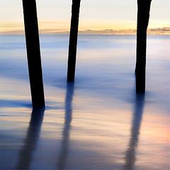 DSC_01012 (pattana92392) Tags: bridge sunset seawave sea longexposure coast beach