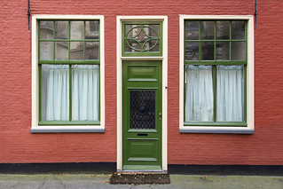 House with the green door
