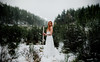 Breath of wind. (tooga1) Tags: wind forest rousse ginger redhair redhead portrait beauty girl women woman nature natural naturallight match creation smoke snow winter weather froid photographie color green white blanc