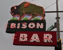 On Main Street (Possum Jimmy) Tags: purple montana bison buffalo bar saloon tavern dring alcohol liquor beer whiskey neon sign