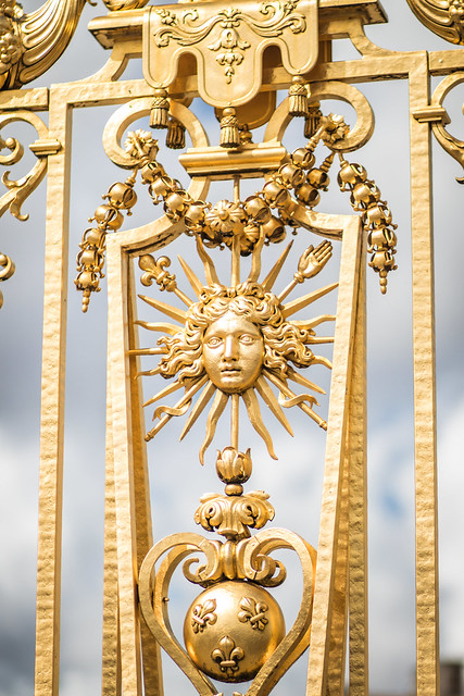 Detail of the Golden Gate at Versailles