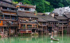 Fenghuang, China (marinachi) Tags: fenghuang city citylife ancientcity china people river