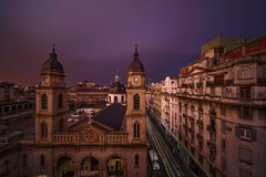 The light in the rain (karinavera) Tags: city longexposure night photography cityscape urban ilcea7m2 rain sunset argentina cloudy buenosaires light sky weather church