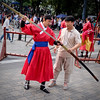 Two-man Job (Mondmann) Tags: seoultower seoulnamsantower namsantower performance sword hanbok red longsword weapon twomanjob koreansword edgedweapon culturalperformance seoul korea southkorea rok republicofkorea asia eastasia mondmann fujifilmxt10