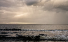 'The Silver Darlings' (Canadapt) Tags: beach ocean waves ship boat clouds storm cullen scotland canadapt