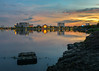 Senja di Taman Waduk Pluit (jenvendes) Tags: asia indonesia jakarta pluit waduk reflection city recreation landscape water lake park sunset building dusk sky popular destination floodgate