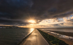 A Break In The Clouds (Rob Pitt) Tags: west kirby marine lake morning winter water wirral uk england over flow sea people sky ocean