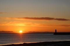 Northumbrian sunrise (lewi1553) Tags: britain uk scenery scene beautyinnature nature berwickupontweed northumberland beach seascape sea coast sky silhouette lighthouse newday dawn firstlight goldenhour morning sunrise