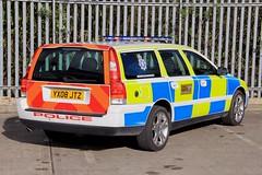 Humberside Police Volvo V70 T5 Training Car (PFB-999) Tags: humberside police volvo v70 t5 estate petrol manual firearms armed response training vehicle car unit lightbar leds yx08jtz