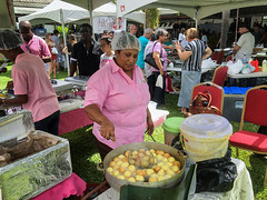 fried food (abtabt) Tags: trinidadandtobago tt festival localfood pholourie woman friedfood iphone6 pos portofspain food meal people trinis trinidadian