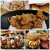 Korean fried chicken lunch at Gami, Southland (avlxyz) Tags: collage photogrid koreanfriedchicken friedchicken coleslaw koreanfood fb7