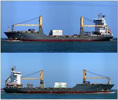 Alk (Morthole) Tags: ship boat schip boot barge binnenvaart schiff rheinschiff bulk vrachtschip schã¼ttgutfrachter alk poster slitscan