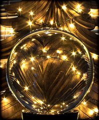 Christmas through the Orb. Happy holidays. (CWhatPhotos) Tags: cwhatphotos crystal ball light reflection reflections orb circular glass happy holidays canon 5d mk iii 100mm prime lens colors color colours colour picture pictures photo photos image images foto fotos that have which contain xmas christmas crimbo tree wood wooden solid lights festive time new year 2017 2018 christmastree