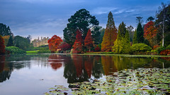 Gothic (SpectrumLight) Tags: landscape water waterscape pond lake england eastsussex sheffieldpark sonyilce7m2 sonya7ii fe2470mmf4zaoss sony tree foliage autumn fall colors colours flickr beauty scenic house mansion countryhouse gothic nt nationaltrust