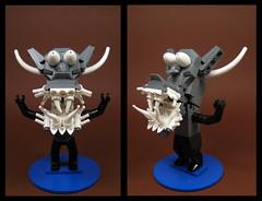 When Terror Itself is Terrified (Karf Oohlu) Tags: lego moc figure terror fantasyhorror fear toothy dentalnightmare