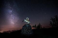 Statue de Jeanne d'arc au Ballon d'Alsace (glassonlaurent) Tags: étoiles voie lactée statue jeanne darc ballon alsace france landscape paysage nuit night