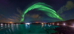 Northern Lightnings (Sigurdur William Photography) Tags: aurora borealis northern lights iceland arctic shots reykjanes blue lagoon water wide angle dark night sky star shine bright cloud canon 5dmarkiv 5dmark4 manfrotto