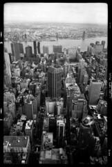 View from above (RafaelGonzalez.) Tags: manhattan newyork cityscape nyc buildings fujicag690 6x9 mediumformat ilfordhp5plus blackandwhite film analogue rafaelgonzalez