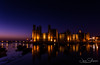 Wales Re-Visited. Wide Angle Caernarvon Floodlit (JDS-photo) Tags: caernarfon caernarfoncastle floodlit northwales night twilight reflection wideangle longexposure lightroom canoneos6d canonef1740mmf4lusm