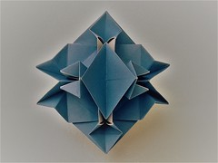 Jagged star (ISO_rigami) Tags: modular origami a4 cube polyhedron 3d