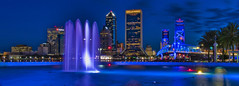 City of Jacksonville, Duval County, Florida, USA (Jorge Marco Molina) Tags: jacksonville duvalcounty florida historical city cityscape urban downtown skyline northflorida centralbusinessdistrict skyscraper building architecture commercialproperty cosmopolitan metro metropolitan metropolis sunshinestate realestate friendshipfountain mainstreetbridge stjohnsriver panoramic panorama bluehour palmtrees urbanpalms longexposure
