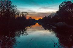 November Sunset on the Hennepin Canal (114berg) Tags: 10nov17 hennepin canal sunset geneseo illinois state park