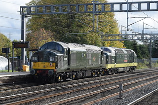 BR 55002 and D6700 @ Rugeley Trent Valley station
