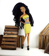 I'm back and making a statement...Shhh don't hate❤️ (Pinku Dollz Loft) Tags: myscenedolls dolls dollphotography muse blackbeauty fashiondolls madetomove mattel blackdoll itsmyscene