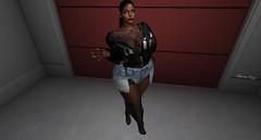 I got the Juice (Zehmora Magic) Tags: slphotography slblogger fashion dope shit bentomeshhead beauty catwa villena love curves black woman blackskin secondlife secondlifephotography sexy red lips matte catya