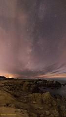 Bye Milky Way. We Will Miss You (Steven Christenson) Tags: milkyway stars night sky sea pacific shore rocks clouds vertorama stitched asilomar statebeach california