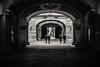 Walkways..... (Dafydd Penguin) Tags: street candid raw shots urban arch archway tunnel walkway passage alleyway alley back blackandwhite blackwhite black white monochrome mono bw noir barcelona catalunya catalonia spain nikon df nikkor 20mm af f28d