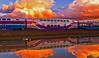 ACE is on Fire!列車著火了! (GeorgeTsai 168) Tags: train railroad reflection reflectioninwater sunset burning burningcloud burningsky ace