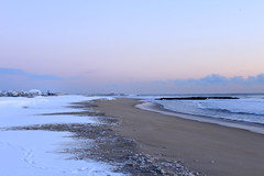 Winter'17 (EldeeenExplores) Tags: snow sand beach 1855mm wintertime canon ocean landscape sky water newjersey nj usa us jerseyshore shoreline