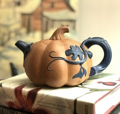 Good morning, my little pumpkin! (Joann aka Jee Whiz!) Tags: teapot chinese pumpkin earthenware organic