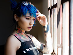 Felisya (cerino67) Tags: second felisya fishballsuicide blue tattoo tattuated beauty italian portrait