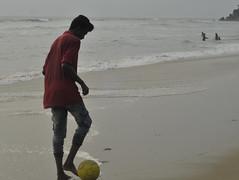 On the ball (brendieiniceland) Tags: kerala varkala beach trivandrum india southindia sea blue sand street
